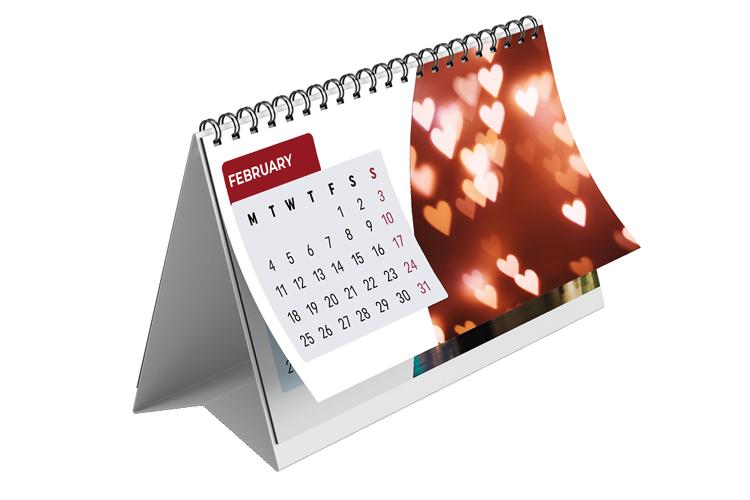 Top Bound Desk Calendar