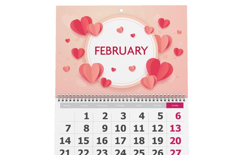 Center Bound Wall Calendar
